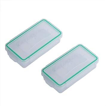 Caja de Almacenamiento de 2 Piezas de Soporte de baterías Caja de plástico Resistente al Desgaste Resistente Cubierta de Protector de Soporte de batería Resistente al Agua: Amazon.es: Electrónica
