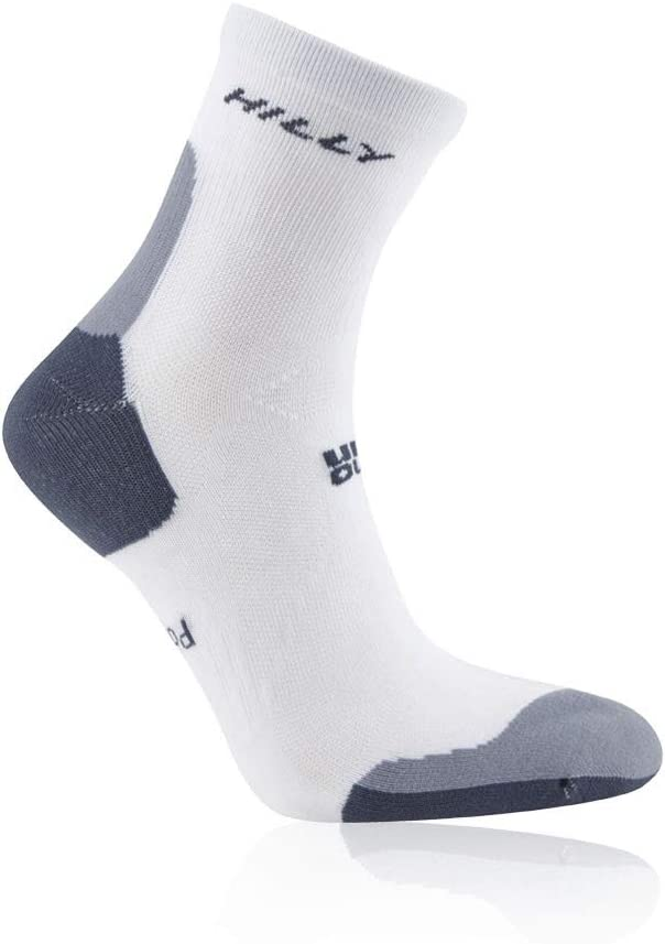 Hilly Marathon Fresh Anklet Taille Fabricant : 43-46 tama/ño FR : L Color Blanco//Gris Unisex Adulto Calcetines de Running Unisex
