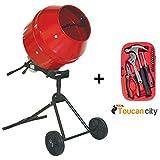 ProForce 1/2 HP Portable Cement Mixer 105890DPT and Toucan City Tool kit (15-Piece)