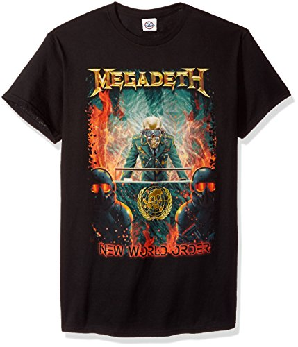 New World Order T-shirt - FEA Megadeth New World Order Mens T-Shirt, Black, X-Large