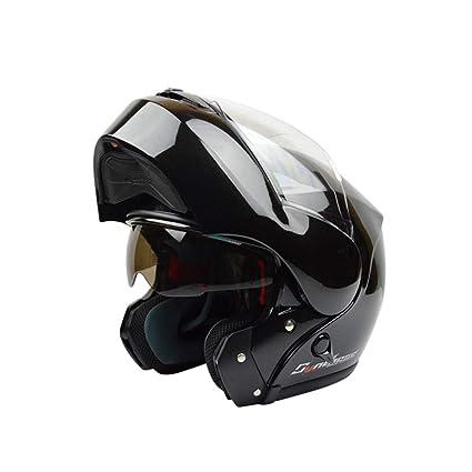 DLD Casco de la Motocicleta, Casco abatible de Cara Completa para Adultos Casco de combinación