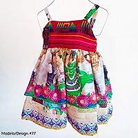 Vestido Mexicano Infantil Doble Capa Cambaya Tejida Forrado Algodon