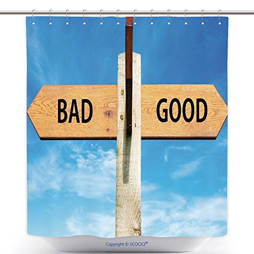 Costume Bad Blood Ideas (Durable Shower Curtains Wooden Signpost With Two Opposite Arrows Over Clear Blue Sky Bad And Good Signs Choice Conceptual 244854931 Polyester Bathroom Shower Curtain Set With)