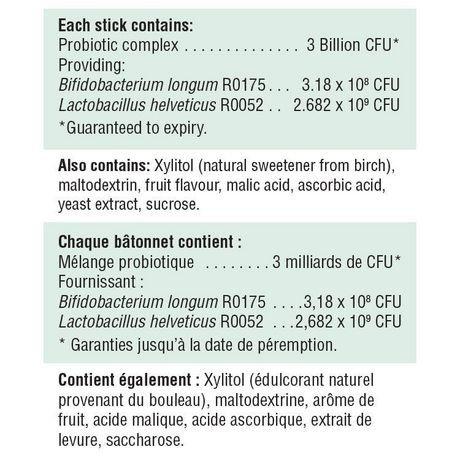 Jamieson Probiotic Sticks, Natural Red Plum Flavour. 30 Powder Sticks (8)