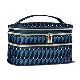 Sonia Kashuk153; Cosmetic Bag Triple Train Case Modern Geo Blue