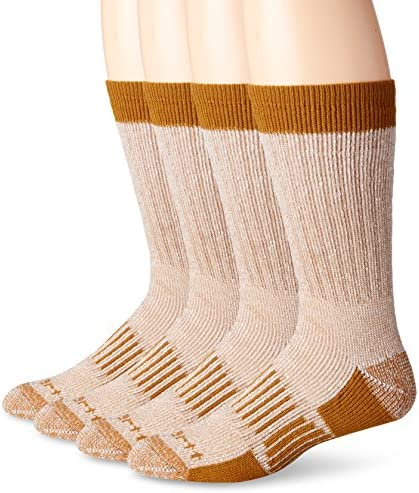 Carhartt Men's A118-4 Cold Weather Wool Blend Crew Socks (Pack of four)