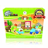Ele Toys Duplo Compatible Kids Interlocking Building Block Set from Fun & Educational - Each Set Includes a Unique Story - The Harvest Party - 43 Piece Set