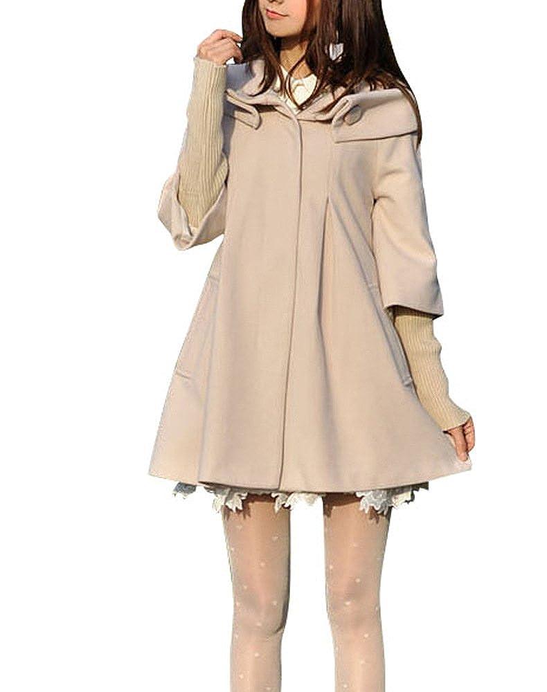 Abrigo de invierno de lana para mujer con mangas extraíbles de punto, de la marca Melansay