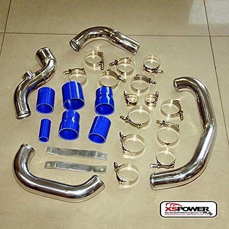 xs-power Intercooler Turbo FMIC Tubo Kit para 2002 - 2005 Audi A4 B6 1.8T (modelos de VW Boost: Amazon.es: Coche y moto