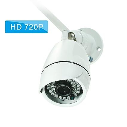 OWSOO Cámara Bala de Vigilancia 720P HD Cámara IP WiFi Inalámbrica 1.0MP 1/4