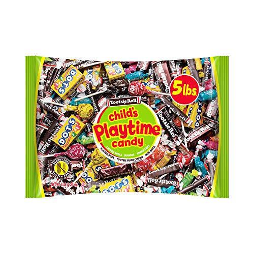 Tootsie Playtime Mix Bag - 5 Pounds, Individually Wrapped Pops and Chewy Chocolate -