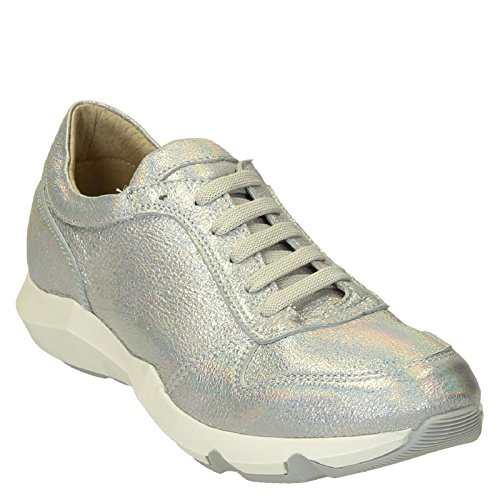 Leonardo Zapatillas Mujer Shoes Plata ER01SILVER Cuero wOqTYrOx