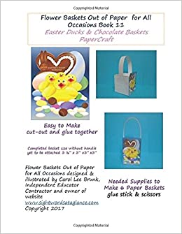 Buy Easter Ducks & Chocolate Basket Papercraft: Volume 11