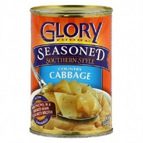 - Glory Foods, Seasoned, Country Cabbage, 15oz Can (Pack of 6)