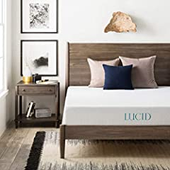 The LUCID 8 Inch Gel Memory Foam Mattress has a medium-firm feel, making it ideal for those who currently wake up with sleeping pains and need extra support. We make all of our foam with open cell construction to maximize the life of your mat...