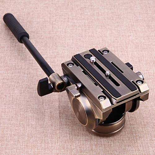 Professional Panoramic Tripod Head Hydraulic Fluid Video Head With Quick Release Sliding Plate For DSLR Camera Camcorders