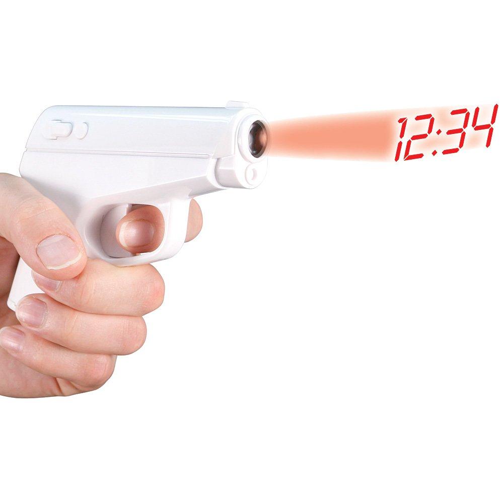 Secret Agent Alarm Clock Projection Gun