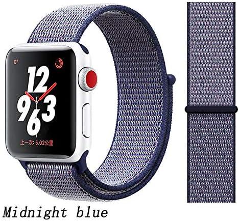 JWJY ユニバーサル・ウォッチバンド44ミリメートル40ミリメートル42ミリメートル38ミリメートルのナイロンブレスレット時計バンド44/42 (Band Color : Midnight blue, Band Width : 42mm or 44mm)
