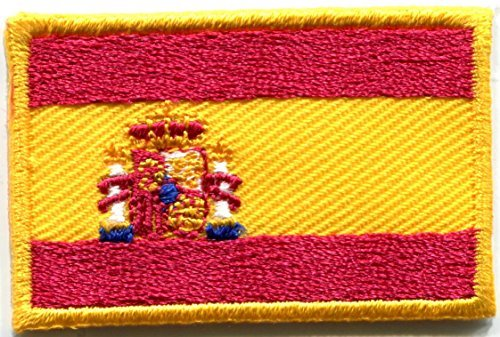 Flag of Spain Spanish pillars of Hercules la Rojigualda embroidered applique iron-on patch new ()