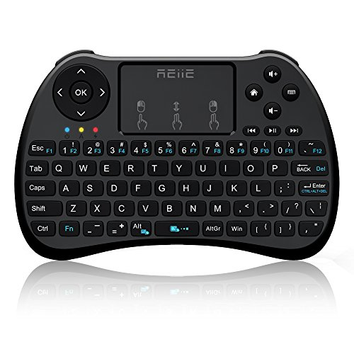 REIIE (2018 H9S Wireless Mini Handheld Remote Keyboard with Touchpad Work for PC,Raspberry Pi 2,3, Android TV Box,XBMC,Windows 7 8 10