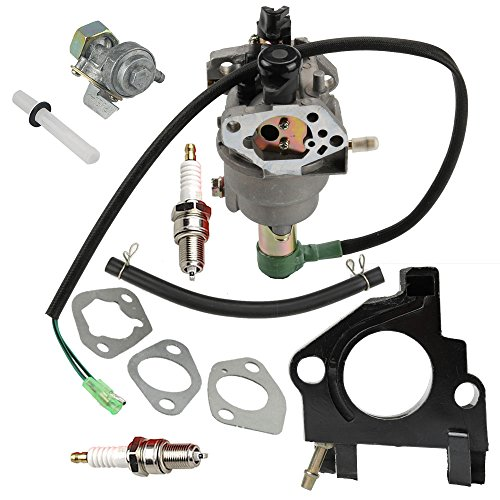 Anzac Carburetor with Solenoid Gaskets Fits Honda GX240 8HP GX390 5KW 13HP Chinese 182F 188F Generator Engine with Spark Plug Fuel Vavle Petcock by Anzac