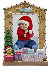 Fine Photo Gifts 5 x 7 Baby's First Christmas Light Up Picture Frame