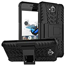 Huawei Y6 Pro Hybrid Case, Honor Play 5X Shockproof Case, Dual Layer Protection Shockproof Hybrid Rugged Case Hard Shell Cover with Kickstand for 5.0'' Huawei Y6 Pro, Honor Play 5X
