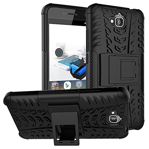 Holly Flat Cards - Huawei Y6 Pro Hybrid Case, Honor Play 5X Shockproof Case, Dual Layer Protection Shockproof Hybrid Rugged Case Hard Shell Cover with Kickstand for 5.0'' Huawei Y6 Pro, Honor Play 5X (Black)