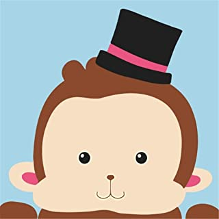 CaptainCrafts New Paint by Number Kits - Cute Monkey With Frame - Diy Painting by Numbers for Kids, As Children's Day Birthday gift (2525cm)