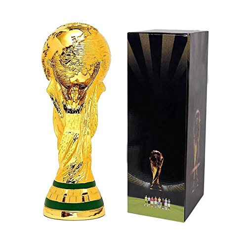 (2018 World Cup Trophy Replica Soccer Fans Souvenir Football with Box | 7in | 10in | 14in | 17in | 30in (30))