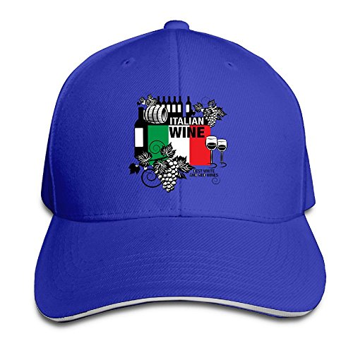 JimHappy Italian Wine Fashion Trucker Cap Durable Baseball Cap Hats Adjustable Peaked Sandwich Cap -