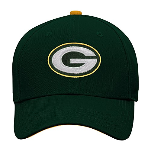 Outerstuff NFL NFL Green Bay Packers Youth Boys Basic Structured Adjustable Hat Hunter Green, Youth One Size