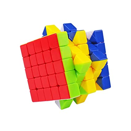 Alician 6.3CM 5x5 Wear Resistant Magic Cube Toy for Kids Six Colors