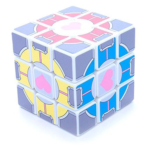3x3x3 Portal Companion Cube White SuperCube Picture Sticker Mod Twisty Puzzle