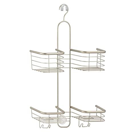 InterDesign Forma Hanging Shower Caddy Bathroom Storage Shelves For Shampoo  Conditioner And Soap