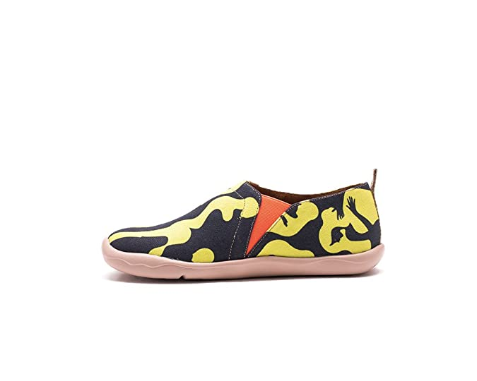 UIN Follow Your Heart Bemalte Damen Canvas Loafer Schuhe Mehrfarbig (37):  Amazon.de: Schuhe & Handtaschen