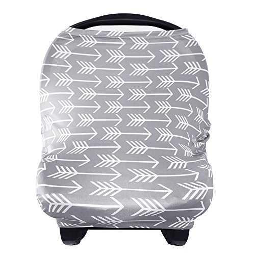 Great Features Of Nursing Breastfeeding Cover Scarf - Baby Car Seat Canopy, Shopping Cart, Stroller,...