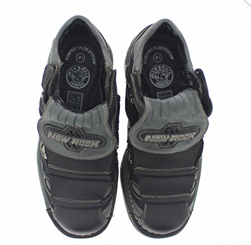 New Rock Mens M.1075-C24 Leather Shoes Black