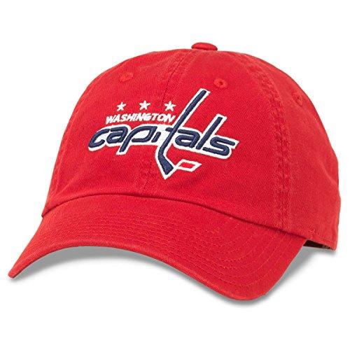 American Needle Blue Line NHL Team Dad Hat, Washington Capitals, Red (40742A-WAC)