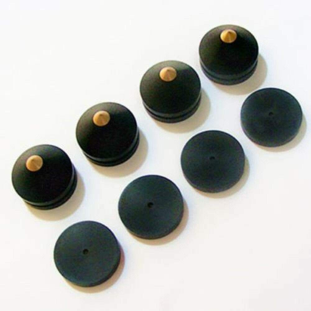 FidgetGear 4X Ebony Speaker Spike Isolation Wooden Copper Stand Foot Spike Kit & Base Pads