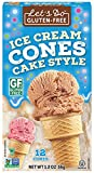 Let's Do Gluten Free Ice Cream Cones, 12-Count Cones (Pack of 12)