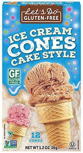 Ice Cream Cones, 12-Count Cones (Pack of 12) (Gluten Free Organic Ice Cream)