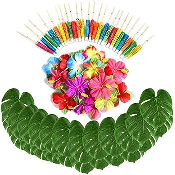 Amazon Com Sorive 98 Pieces Hawaiian Luau Theme Party Decorations