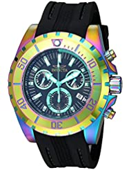 Invicta Mens Pro Diver Quartz Stainless Steel and Polyurethane Casual Watch, Color:Black (Model: 24928)
