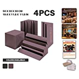 Ace Punch Huge 4 Pack Corner Bass Trap Set Acoustic Foam Panel DIY Design Studio Soundproofing Wall Tiles Sound Insulation with Free Mounting Tabs 50 x 30 x 30 cm Burgundy AP1043