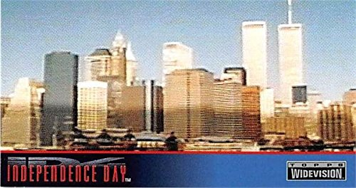 World Trade Center Twin Towers trading card Independence Day ID4 1996 Topps - Center Independence