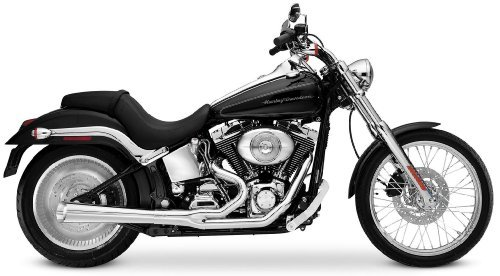2012 Harley Davidson FLS Softail Slim 2-Into-1 Supermeg Exhaust System - Chrome, Manufacturer: SuperTrapp, 2:1 SUPERMEG SYSTEM CHR ()