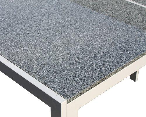 Amazon De Xxl Gartenmobel Granittisch Alu Granit Tisch Gartenmobel