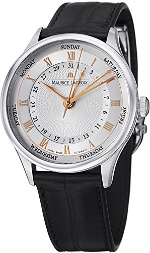 Maurice Lacroix Masterpiece Tradition Five Hands Men's Day Date Automatic Watch MP6507-SS001-111