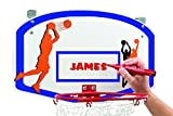 Over the Door Basketball Hamper with Metal Ring (Blue & Orange Backboard)